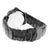 Ice Mania Black Finish Diamond Bezel Metal Band Watch