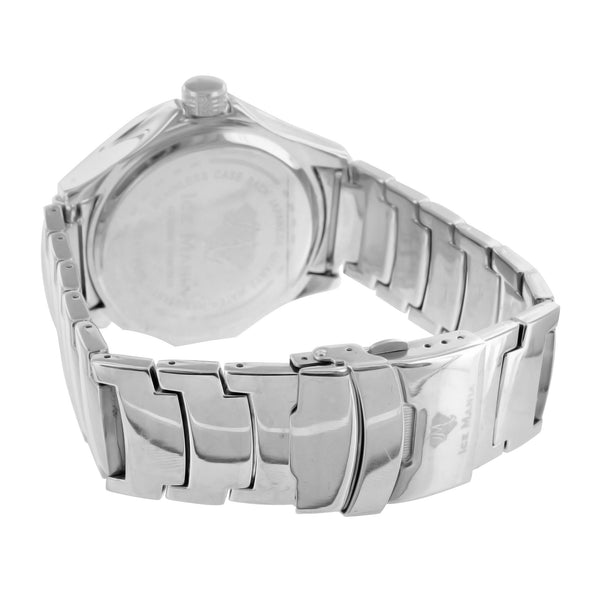 Ice Mania White Finish Roman Numeral Face Diamond Watch