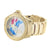 Globe Style World Map Ice Mania Joe Rodeo Unique Mens Gold Finish Diamond Watch