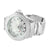 New White Gold Finish Shiny White Custom Dial Mens Ice Mania Diamond Watch