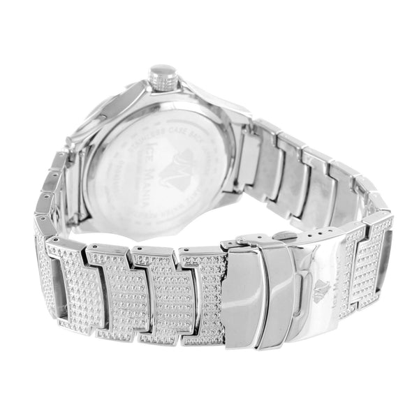 Genuine Diamond Men Brand New Ice Mania Steel Back Watch