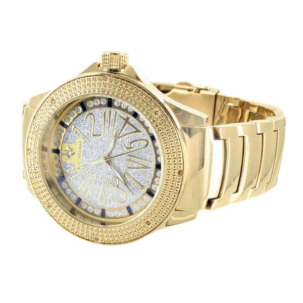 Ice Mania White Dial Mens Stylish Diamond New Yellow Watch