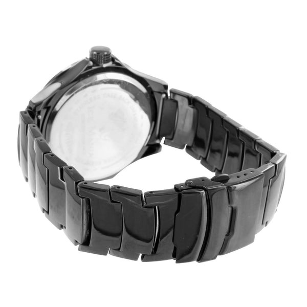 Black White 2 Tone Dial Mens Real Diamond Bezel Ice Mania Watch