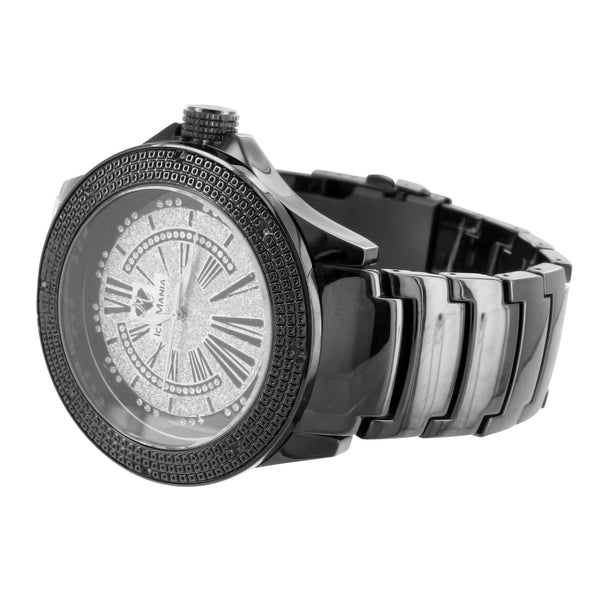 Vintage Style Bling Roman Numeral Dial Ice Mania Fashion Watch