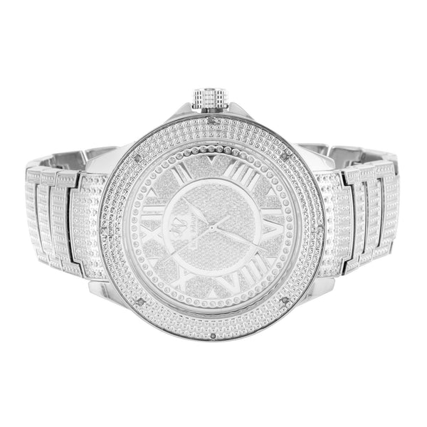 Mens Real Diamond Ice Mania Roman Numeral Watch