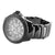 Black Finish Roman Numeral Face Genuine Diamond Bezel Ice Mania Watch