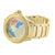 World Map Globe Dial Design Gold Finish Ice Mania Diamond Watch