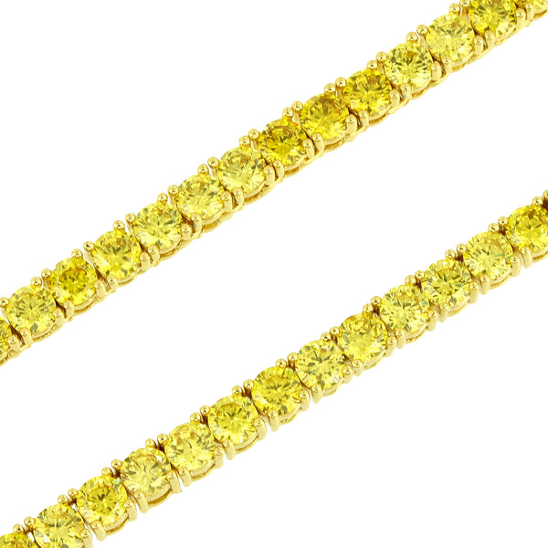 Canary Lab diamonds Tennis Necklace Solitaire 18