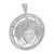 White Gold Medusa Pendant 14k Finish Lab Created Diamonds Greek Myth Charm