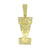 Nefertiti Queen Of Egypt Pendant Simulated Diamonds Yellow Gold Finish 1.3 Inch