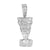 Nefertiti Pendant 14K White Gold Finish Queen Of Egypt
