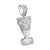 Nefertiti Face Design Pendant White Rhodium Finish Simulated Diamonds Queen