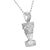 White Queen Nefertiti Pendant Free Necklace Set Simulated Diamonds Custom Classy