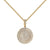 Medallion Design Pendant Simulated Diamonds 14k Yellow Gold Tone 24