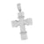 Jesus Cross Design Pendant White Rhodium Finish Simulated Diamond