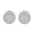 White Round Shape Earrings Screw Back Studs Unisex