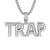 Mens Hip Hop 3D Mini Trap Double Layer Rapper Pendant