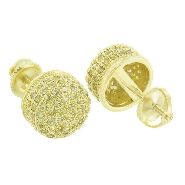Round Gold Finish Earrings