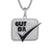 Sterling Silver Bling Cut Da Check Square Black Rapper Pendant