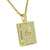 Safety Vault Lock Pendant Fully Iced Out 14K Yellow Gold Finish Stainless Steel 24