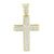 Yellow Gold Finish Cross Pendant Iced Out Simulated Diamond Stones Pave Jesus