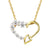 14k Gold Finish Sterling Silver Women's Heart Love Pendant Gift Set