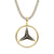 Black Simulated Diamonds Luxury car Logo Pendant