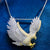 Two Tone Baguette Icy Flying Bird Eagle Custom Pendant Chain