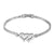 White Gold Heart Bracelet Womens 14K Finish