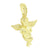 Gold Angel Pendant Yellow Lab Created Diamonds 14K Finish Holy Cherub Guardian