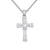 Custom Sterling Silver Star Baguette Cross Pendant Free Chain