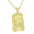 Gold Jesus Pendant Mens Yellow Lab Created Diamonds 14K Finish Steel Necklace
