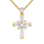 New Baguette  Star Spinner Cross Silver Pendant