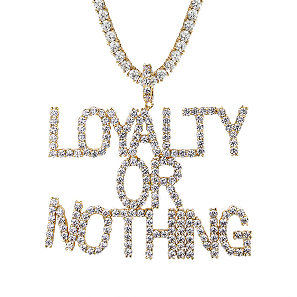 Loyalty or nothing solitaire pendant