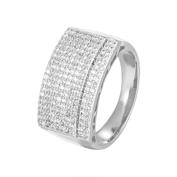 Men's Hip Hop 14k White Gold Finish  Designer Ring