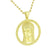 Jesus Pendant Stainless Steel Necklace 14K Gold Finish Yellow Lab Create Diamond