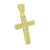 Gold Finish Cross Pendant Micro Pave Set Round Cut Simulated Diamond