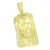 Jesus Face Pendant Gold Finish Yellow Simulated Diamonds