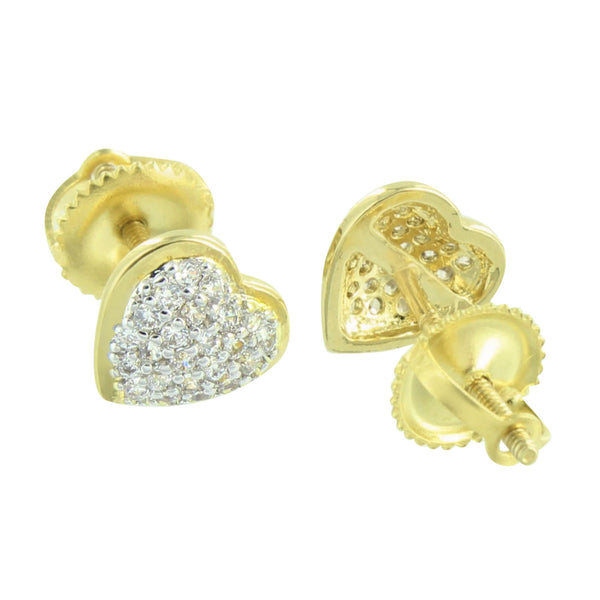 Ladies Heart Shape Watch Yellow Gold Finish Cluster Set