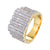 Men's Iced Out Designer Solitaire Bars Wedding Ring