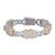 Money Dollar Baguette Icy Infinity Link Cuban Bracelet