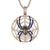Custom Spider Web Round Sides Icy Medallion Hip Hop Pendant