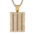 Men's Gold Finish Baguette Row Square Dog Tag Hip Hop Pendant