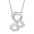 Women's Triple Heart Love Small Sterling Silver Pendant Chain