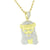 New Gold Miami Cuban Jesus Pendant 14K Finish Lab Created Diamond Steel Necklace