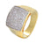 Men's 3D Solitaire Iced Out Designer Wedding Ring