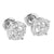 Halo Design Earrings 14k White Gold Finish Simulated Diamonds Screw Back 8mm  Studs