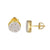 Ghost Jesus 14k Gold Plated Pendant Earrings Studs 9mm 24