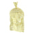 Jesus Face Pendant Yellow Gold Finish Simulated Diamonds Round Cut