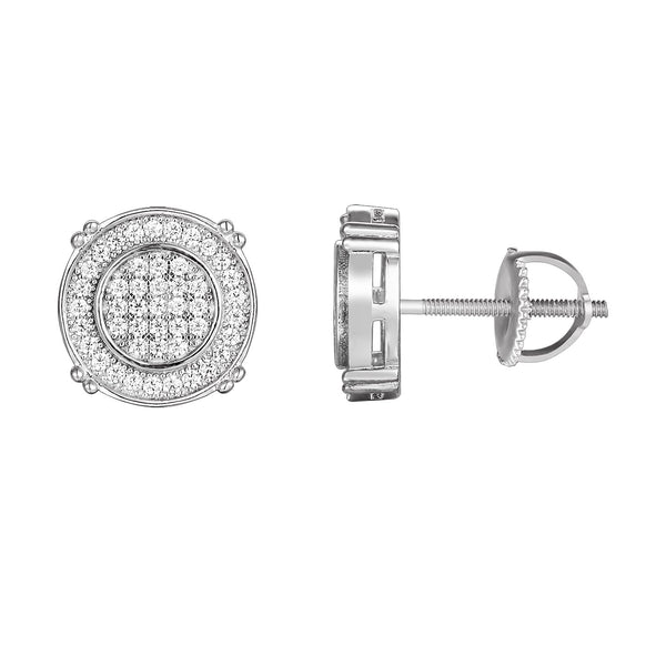 Sterling Silver Solitaire Icy Stud Earring